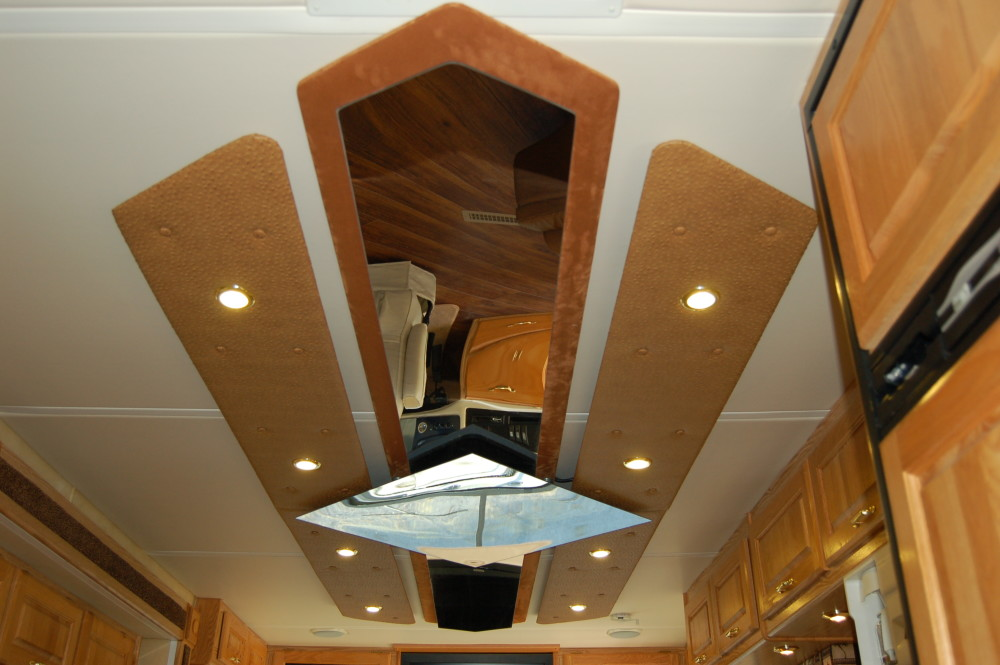 Custom Ceiling Rv Renovations By Classic Coach Works