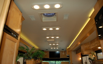 2004 Country Coach Intrigue, Vinyl Wrapped Light Boards, LED Lights
