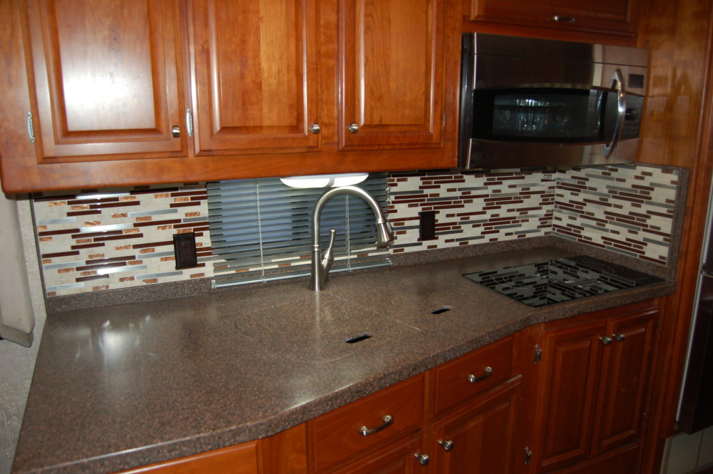 Backsplash Rv Renovations By Classic Coach Works