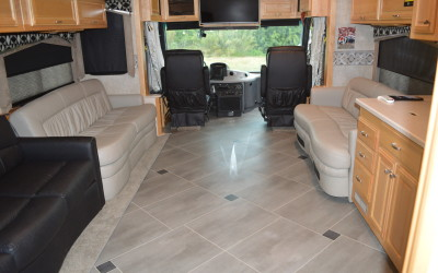 2006 Fleetwood Revolution, Karndean Luxury Vinyl Flooring Upgrade, RV Renovation