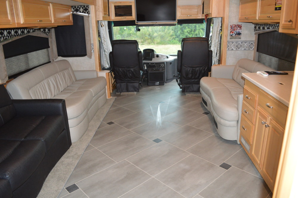 Tile Floors - RV Renovations by Classic Coach Works
