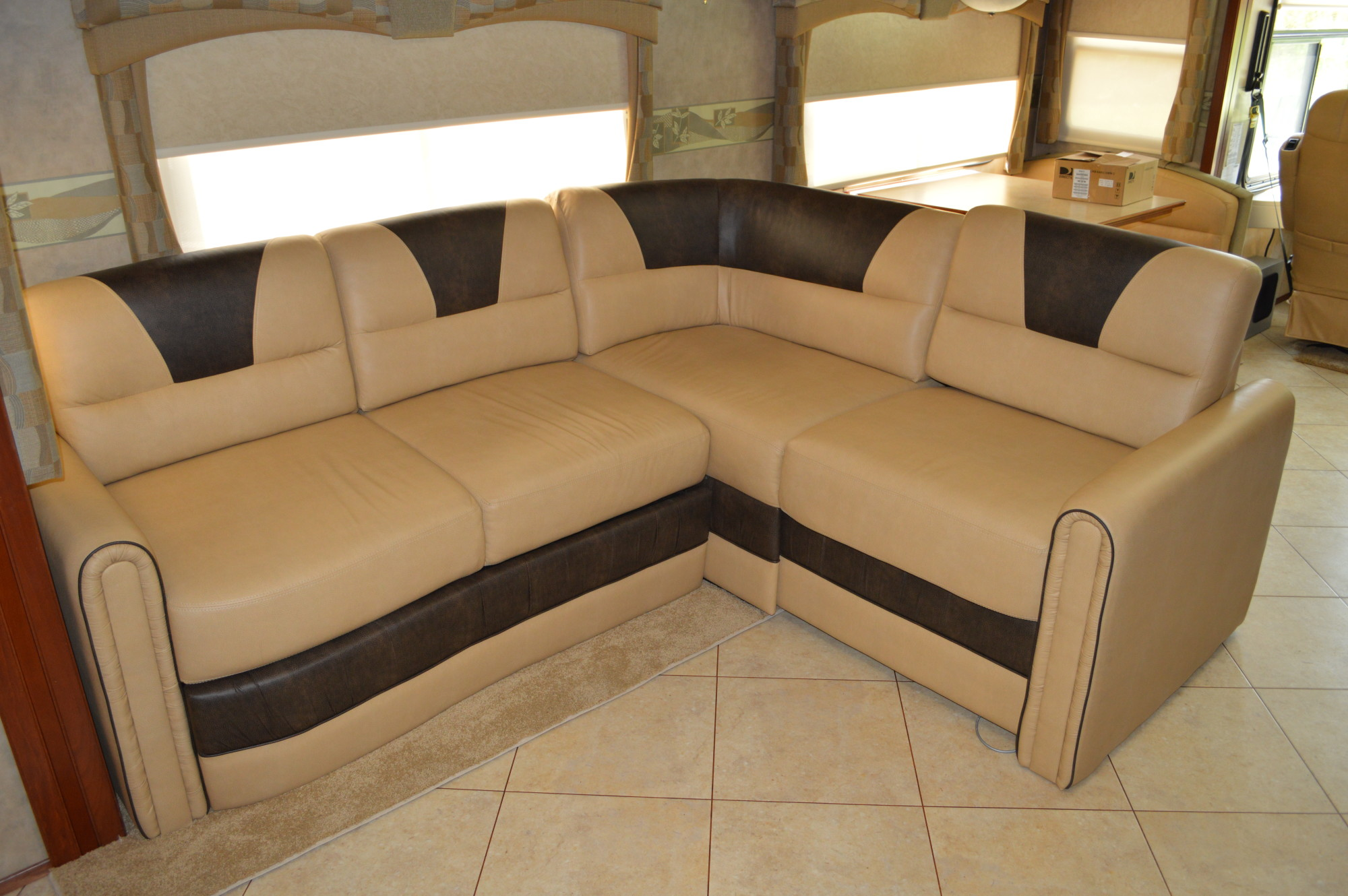 Rv sofa bed motor home designer easy bed rv magazine for Rv furniture
