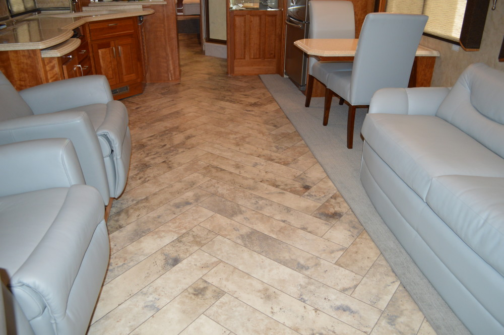 Tile Floors Rv Renovations By Classic Coach Works