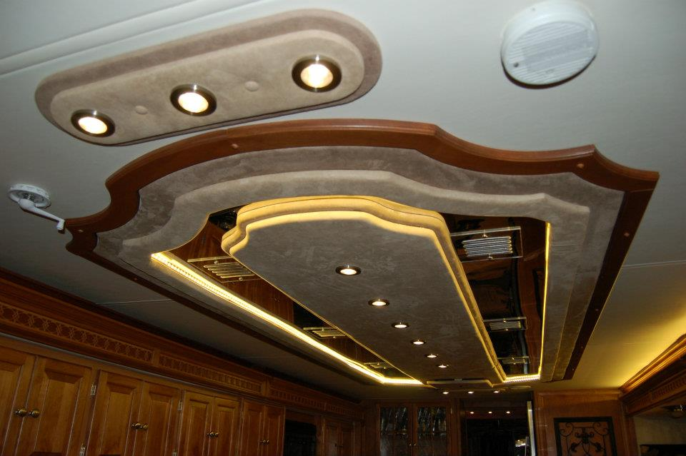 Custom Ceiling Rv Renovations By Clic Coach Works